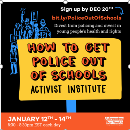 Public Education Trains Students Political Activism: Defund Police - Reinvest Funds for Sexual Rights.