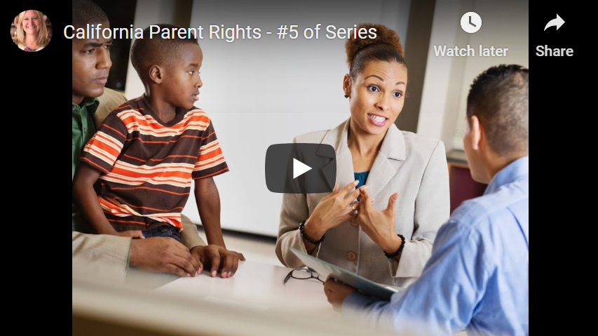 Calif Parent Rights EdCodes contradicts new laws